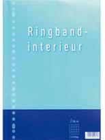 Ringband interieur 23-rings 10 mm ruit 100 vel 2 stuks