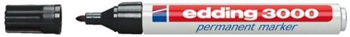 VILTSTIFT EDDING 3000 ROND 1.5-3MM ZWART 1 STUK