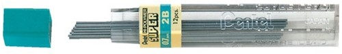 Potloodstift Pentel 0.7 mm 2B 12 stuks